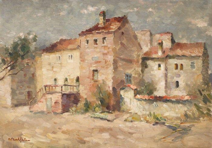Adam Bălțatu (1889-1979) Case în Provence