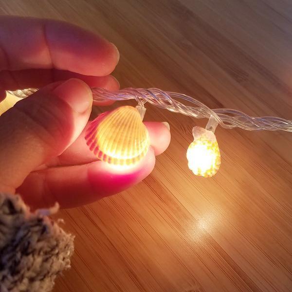 Shell Mermaid Lights DIY