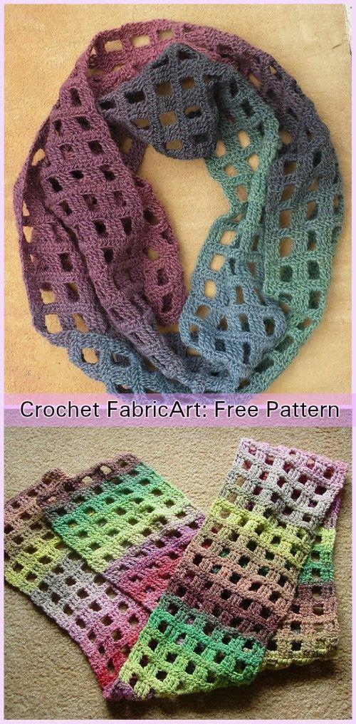 Crochet Windowpane Scarf Free Pattern