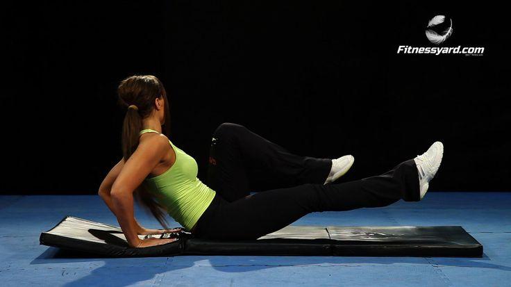 تمارين البطن تمرين الطحن المتقاطع اليدين خلف الظهر Abdominal Workout Bodybuilding Strong Cardio Training Fitness Exercise Mus Exercise Workout Gym