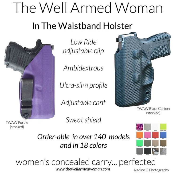 Conceal Carry and I love the idea that it comes in so many colors.