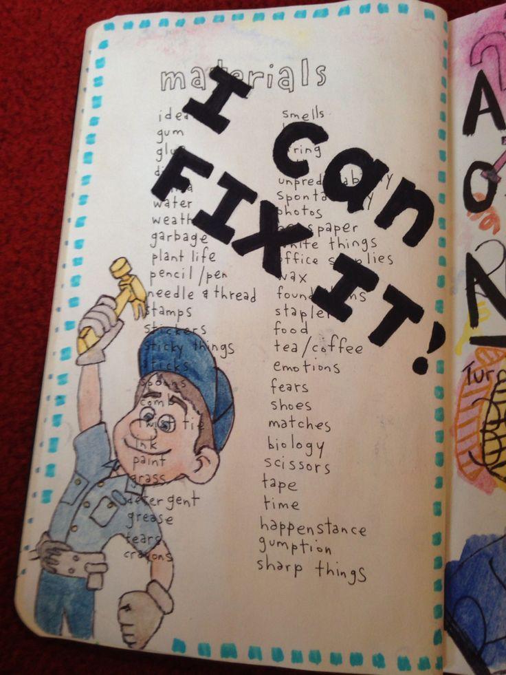 #wtj wreck this journal materials page idea. Fix it Felix Jr from Disney Wreck it Ralph