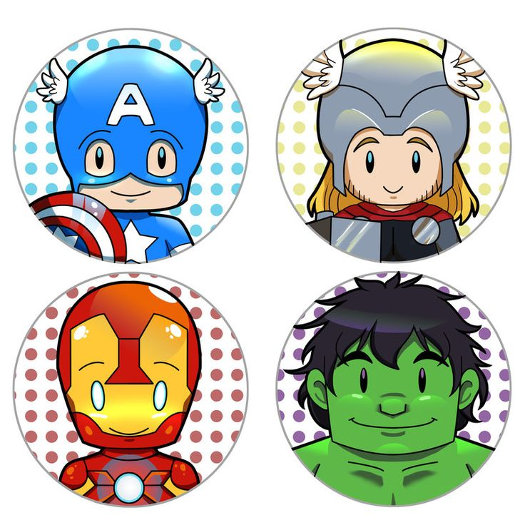The Avengers Cupcake Toppers by Sage-of-Winds.deviantart.com on @deviantART