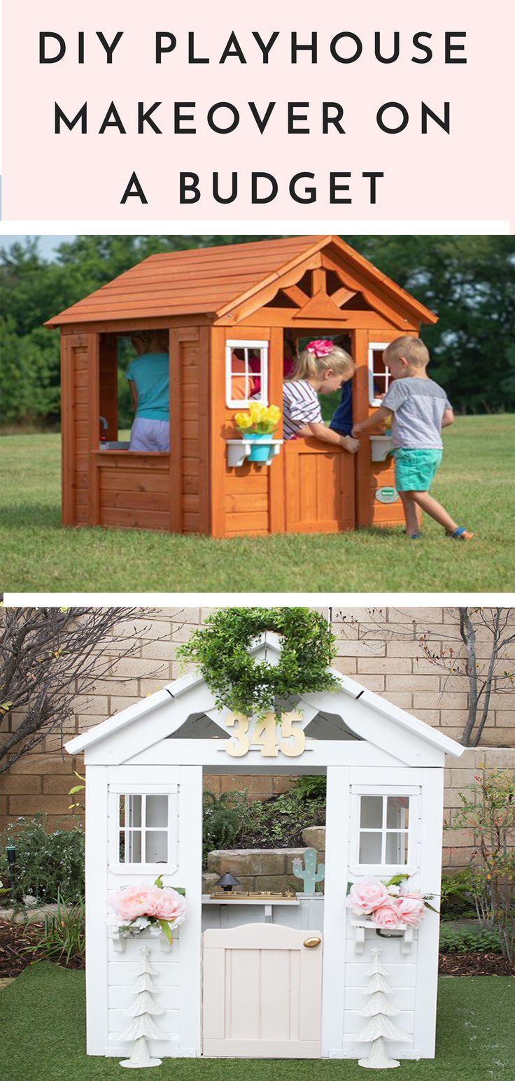 fbcf4b5a9c8f6035935f6acb88b7938e - DIY Playhouse Makeover On A Budget #playhouse #kidstoys #backyard #playhousediy ...