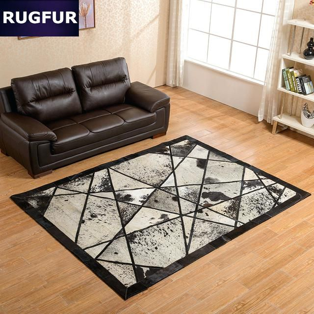 Cowhide Patchwork Rug Made With Natural Cowhide Strong Carpet Backing Handcrafted Rug Whide Patchwor Patchwork Cowhide Rug Modern Rugs Rugs And Carpet