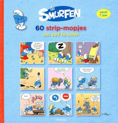 Zestig mopjes via een stripverhaaltje van elk drie plaatjes, met de Smurfen in de hoofdrol. Vanaf ca. 7 jaar; ook geschikt voor wat oudere moeizame lezers.