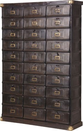Strictly Business Metal Chest Of Drawers  from French Bedroom Company