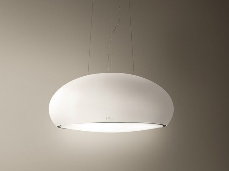 Island hood with integrated lighting SEASHELL by Elica | design Fabrizio Crisà