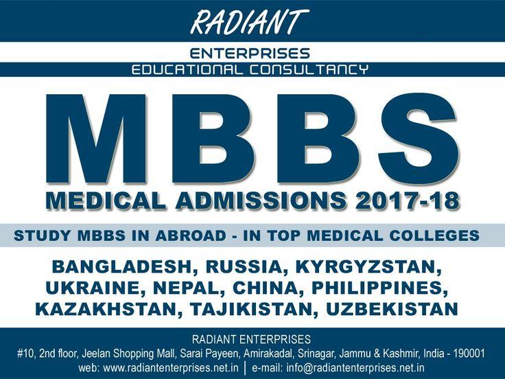 STUDY MBBS IN ABROAD BANGLADESH, RUSSIA, KYRGYZSTAN, UKRAINE  #MBBSAbroad #StudyAbroad  #RadiantEnterprisesSrinagar http://www.radiantenterprises.net.in