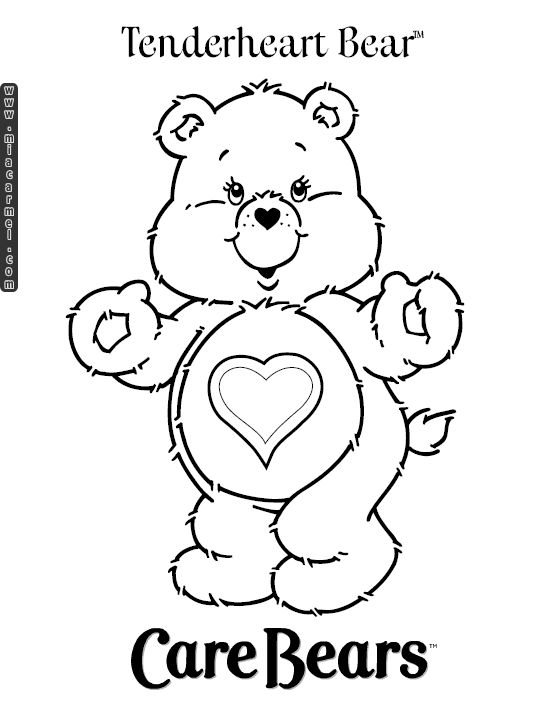 Bear Coloring Pages Care Kids