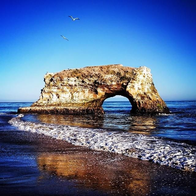 Natural Bridges State Beach takes up 65 beautiful acres in Santa Cruz, #California. Photo courtesy of cravenreviews on Instagram.
