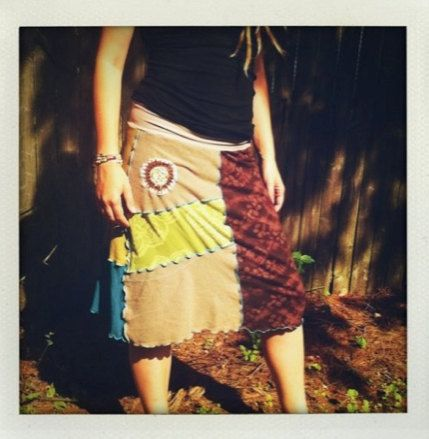 Make a skirt with recycled tees and a serger