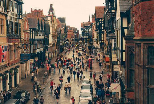 Pedestrian Walkway, Chester, England