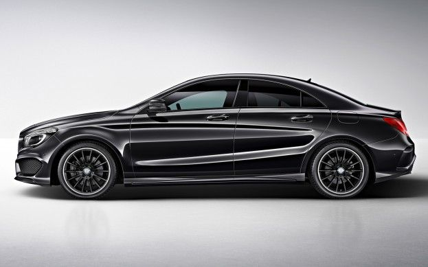 Mercedes-Benz CLA45 AMG Edition One in black side view Photo on February 21, 2013