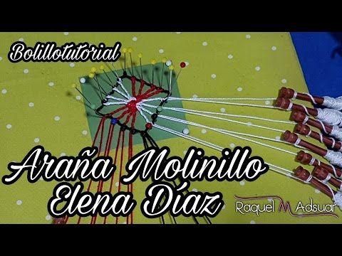 Araña Molinillo de Elena Díaz - Bolillotutorial Raquel M. Adsuar - YouTube