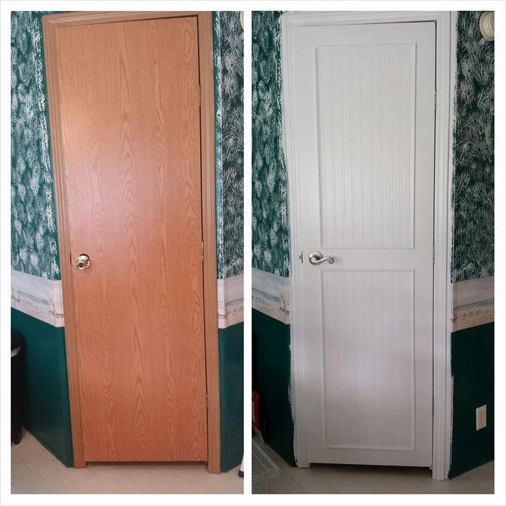 Mobile+Home+Interior+Door+Makeover ... need a handy-guy to help with the trim cutting, but it doesn't look too difficult.