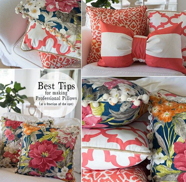 Tutorial: How to sew professional pillow covers (Sewing ...