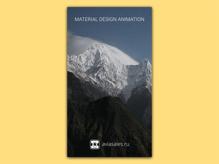 Material Design Animation Aviasales App