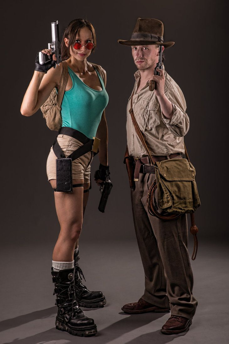 Lara Croft and Indiana Jones by *ShonaAdventures  [Oh my god its my friend Rod as Indy! Crazy]