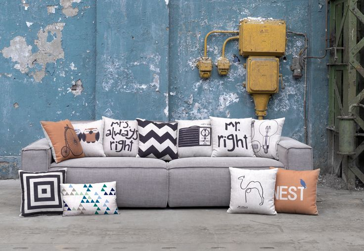 Bank met geprinte kussens | Sofa with printed pillows | FEST Amsterdam