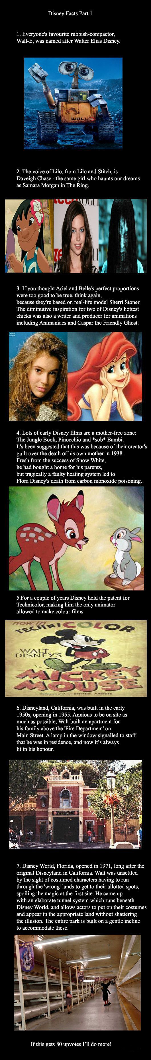 A few interesting Disney facts