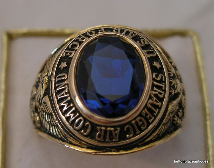 Usaf Strategic Air Command 10 Kt Gold Ring Looking For
