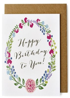 Amelia Paper Lane Happy Birthday Card, Floral