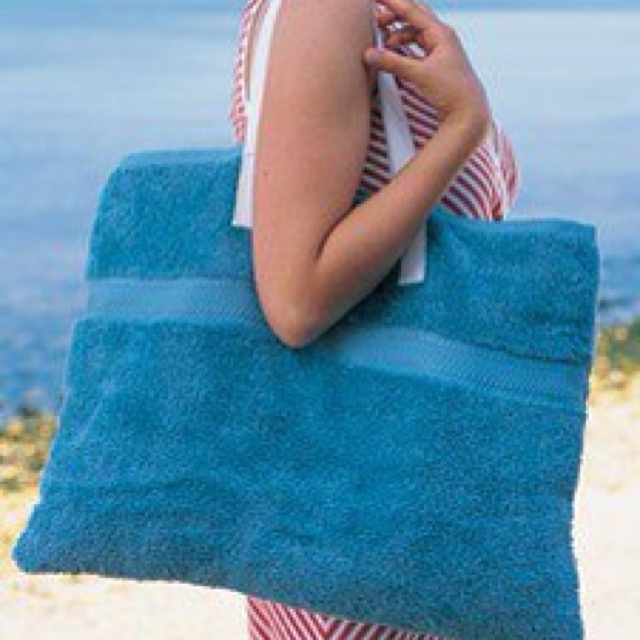 old towels - beach bag