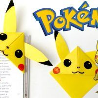 Pikachu Corner Bookmark - so easy and simple                              …