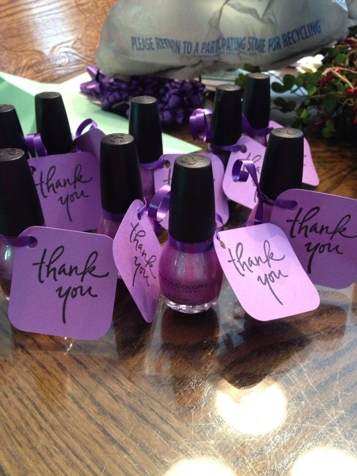 Bridesmaid gift. In the color you want them to wear for the wedding.