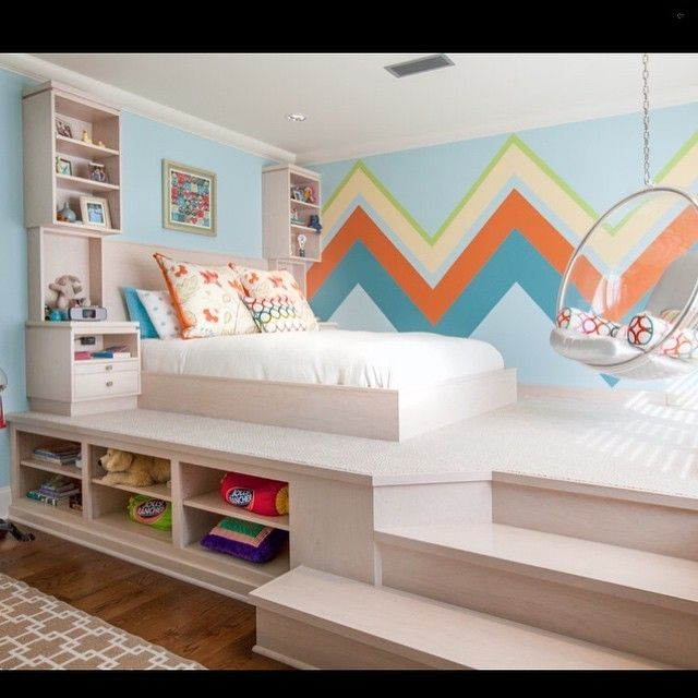 Check out this custom made platform and bed! Credit to Weaver Architects... - Home Decor For Kids And Interior Design Ideas for Children, Toddler Room Ideas For Boys And Girls