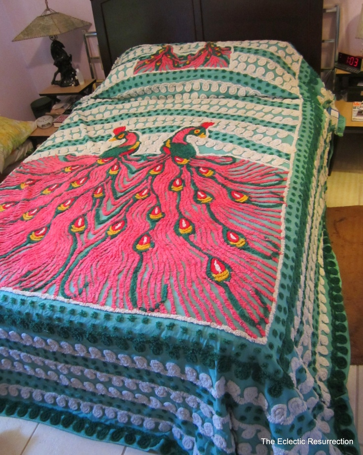25 best chenille bedspreads images on pinterest - Peacock bedspreads ...