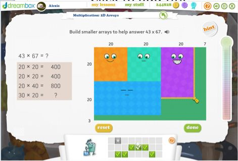 SMART BOARD - Multi-Digit Multiplication: Open Arrays