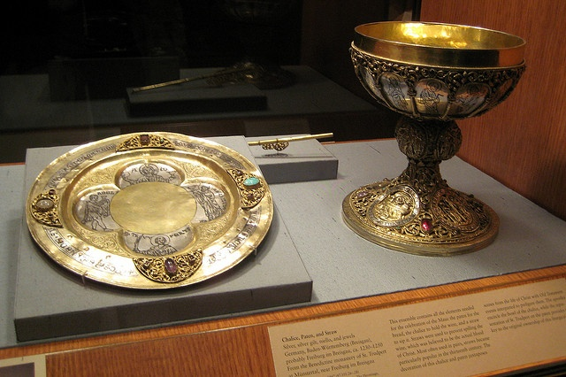 NYC - Fort Tryon Park - The Cloisters - Chalice, Paten and Straw by wallyg, via Flickr