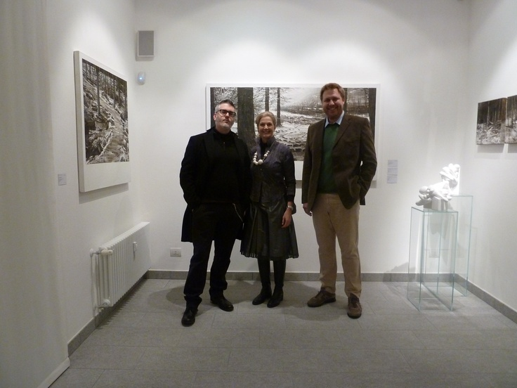 ANDREA MARICONTI AND HIS ARTWORKS; TOGETHER WITH SOFIA MACCHI & FEDERICO RUI