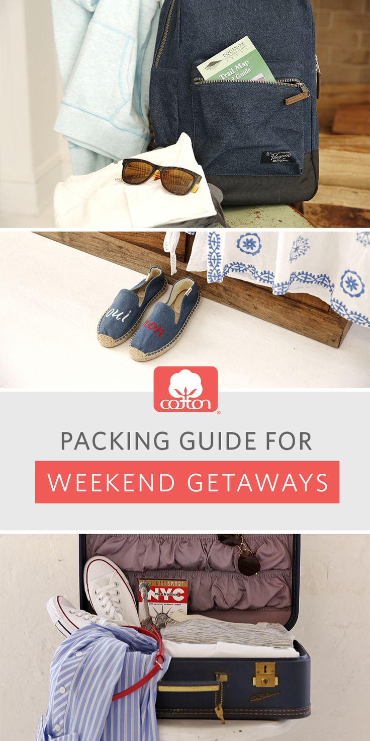 Whether it's the beach, the outdoors, or a weekend in the city, our travel packing guides will get you there in style.