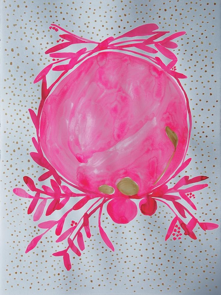 PINK ABSTRACT WREATH   Bowerbird