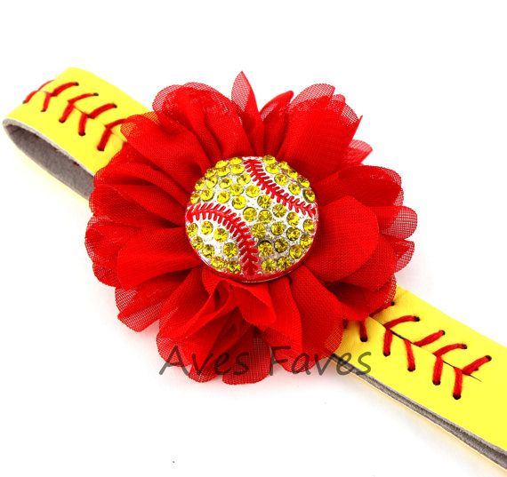 Softball Headband, Softball Stitching Headband, Sports Headband