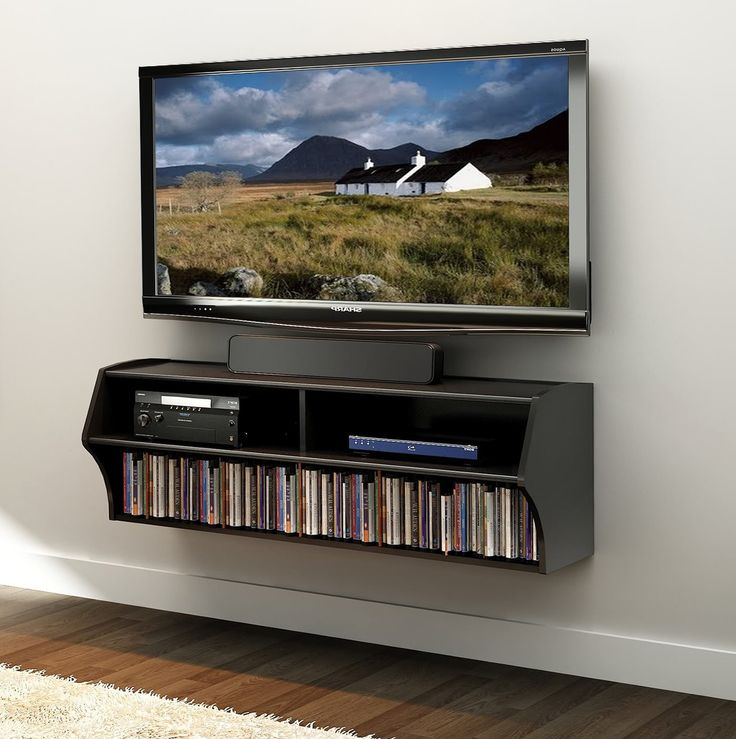 Image of: With Best TV Wall Mount Shelf hight