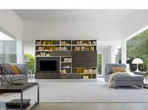 contemporary wooden bookcase 505 2011 edition by Nicola Gallizia  Molteni & C
