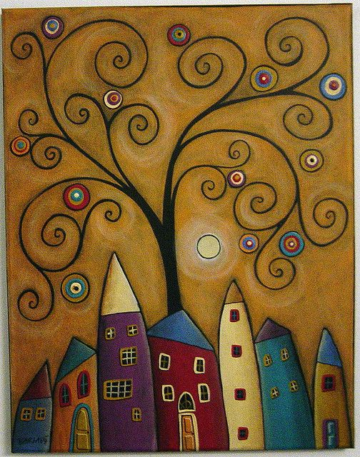 7 Houses & A Swirl Tree | Flickr - Photo Sharing!