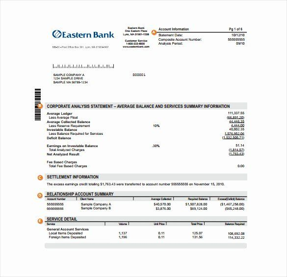 Fake Bank Statement Template
