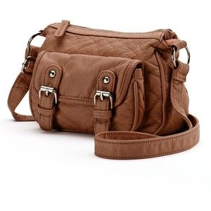 Candie's Washed Mini Messenger Bag (Brown)