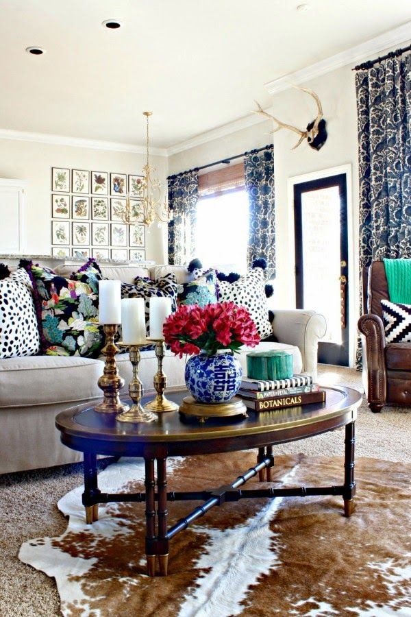 7 Perfectly Preppy Eclectic Decorated Rooms Winter Living RoomChic