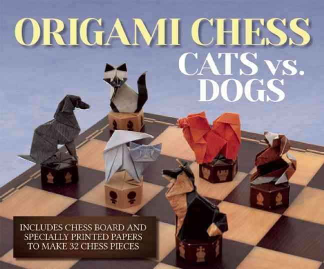 Chess: A game of strategy, intellect, andpaper folding? Add a new element of fun to any game of chess with Origami Chess: Cats vs. Dogs . A 112-page book tells the history of the game of chess, gives