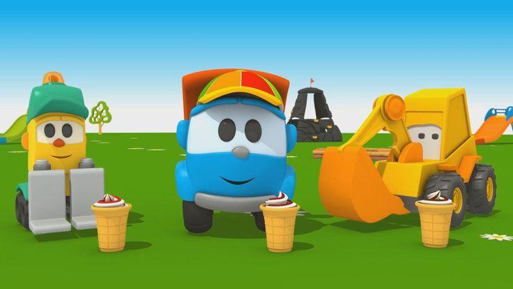 Cartoni animati per bambini: Camioncino Leo Jr e la macchina del gelato