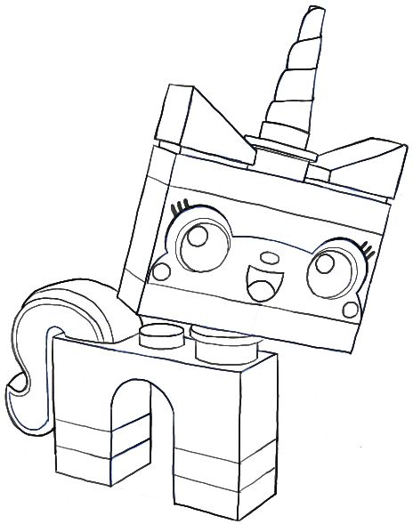 How To Draw Unikitty Minifigure From The Lego Movie In Easy Steps