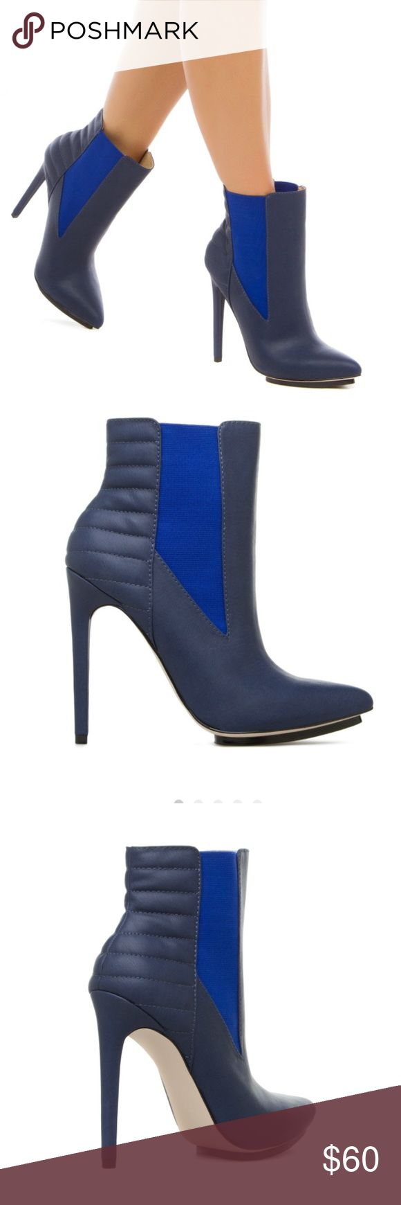 Gwen Stefani cute blue booties! Adorable blue booties. New in box. Navy. Size 7 GX by Gwen Stefani Shoes Ankle Boots & Booties