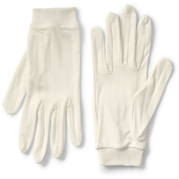 Lands' End Men's Silk Interlock Glove Liner ($17) ❤ liked on Polyvore featuring men's fashion, men's accessories, men's gloves, ivory and mens gloves
