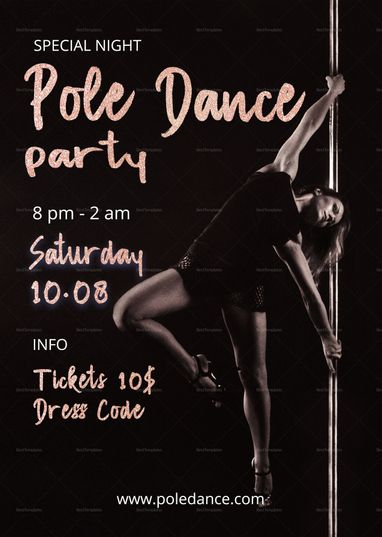 pole dance party flyer template flyer templates flyer template